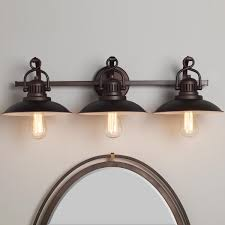 Decorate Your Bathroom With Rustic Vanity Lights Outstanding Cabinet Bath Mirror And