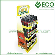 FSDU Cardboard Strong Beer Display Racks Corrugated Plastic