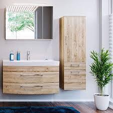 lomadox badezimmermöbel set eiche hell 100cm waschtisch