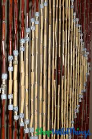 Bamboo Beaded Door Curtains Painted by Wooden Bead Curtain