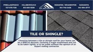 choosing between tile and shingle roofing bay area roofing