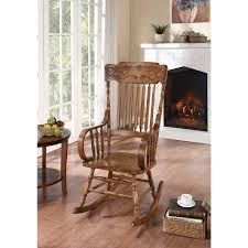Details About Copper Grove Taber Oak Carved Rocker Chair - 25