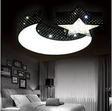 lyxg led deckenleuchte leuchtet auf jungen und mädchen mond sterne kreative schlafzimmer licht kunst licht kinder studie eisen len 550mm 70mm