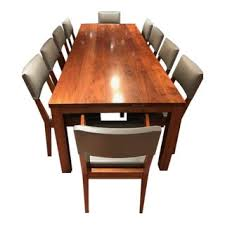 De La Espada Walnut Dining Table And Chairs
