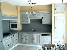 repeindre un meuble de cuisine meuble cuisine bois et zinc meuble de cuisine bois repeindre