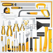 Icons Of Modern Hand Tools Instruments Collection For Metalwork Stock Photo Picture And Royalty Free Image 22958548