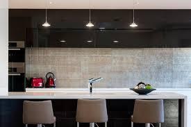 Dune Silver Glass Splashback Contemporary Kitchen