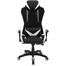 Hanover Commando Ergonomic High-Back Gaming Chair In Black And White With  Adjustable Gas Lift Seating And Lumbar Support, HGC0104 Xtrempro G1 22052 Highback Gaming Chair Blackred Details About Ergonomic Racing Gaming Chair High Back Swivel Leather Footrest Office Desk Seat Design Computer Axe Series Blackred Check Out Techni Sport Racer Style Video Purple Shopyourway Topsky Pu Executive Merax 217lx 217w X524h Blue Amazoncom Mooseng New Lumbar Support And Headrest Akracing Masters Premium Highback Carbon Black Energy Pro
