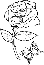 Free Coloring Pages Roses