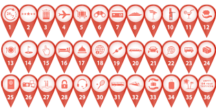 Pinpoint Animated Icons Scene Can Hold 3 Or 4 Pins Choose Out Of 36 Animations To Create Your Slogan Showcase Services