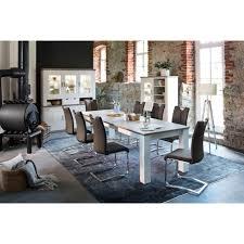 mca furniture freischwinger artos 2er set stuhl mit echtlederbezug bis 140 kg belastbar