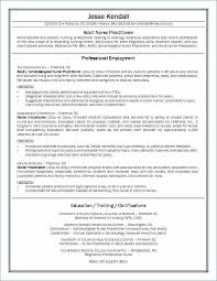 Nurse Practitioner Resume Sample Unique Writing A Nursing Example How To Write Job Description
