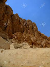 100 In The Valley Of The Kings Mountains And Blue Sky Egypt Stock