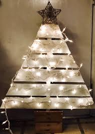 Pallet Christmas Tree White Lights GlitterDazzleSparkle Gold