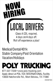 Flyerboard - Poly Truckers Is Now Hiring Local Drivers - Chron.com Trucks On Sherman Hill I80 Wyoming Pt 2 Dump For Sale In El Paso Tx And Ford F700 Truck Or Manual Scs Softwares Blog Software Is At Midamerica Trucking Show Trux Poly Half Fenders Pair Black Item Tfenh39 Northern Heavy Duty Southwest Rigging Equipment Crazy Bandit Finish Leads To Rude Win Florence Christmas Customer Image Gallery Robmar Plastics Inc Spanish Paintjobs Pack Side View Of Crane Truck Vector Illustration Stock Art Nyolc8s Low Paradise Los Santos Roleplay