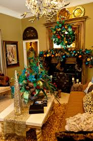 Seashell Christmas Tree Garland by Show Me A Home Dressed In Peacock Mantels Peacocks And Garlands