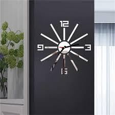 große größe wanduhren diy home dekoration wohnzimmer wanduhr große spiegel wanduhr moderne design wand aufkleber uhren 9m14