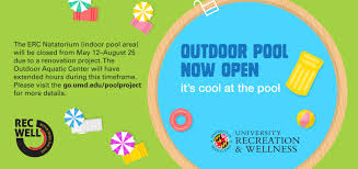 Umd It Help Desk by Outdoor Pool Now Open University Of Maryland College Park