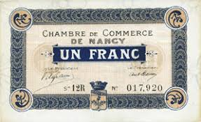 chambre de commerce 12 banknotes emergency notes nancy 54 chambre de commerce