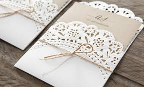 Brown Craft Card Printed In Black Ink Enclosed A Charming Floral Patterned Laser Cut