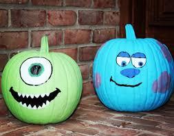 Free Mike Wazowski Pumpkin Carving Patterns by Disney Painted Pumpkins Over 45 No Carve Disney Pumpkin Ideas