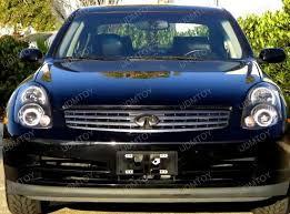03 04 infiniti g35 4 door black style reflector headlights