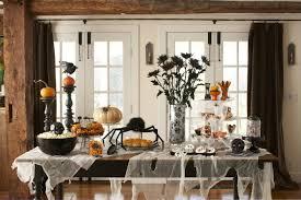 Halloween Dining Room Decorating Ideas Cool Black Spider