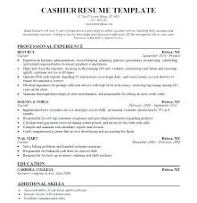 Resume For Cashiers Restaurant Cashier Template Simple Templates Fast