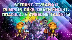 Castle Clash Pumpkin Duke Talent by Amazing Death Knight Dracula Giveaway Castle Clash Andriod