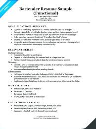 Functional Examples Of Resume Resumes For College Students
