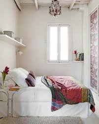 White Small Bedroom Decorating Ideas With Furniture And Windows Home Decor