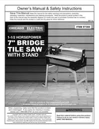 harbor freight tile saw manual harbor freight tools 7 in 1 5 hp bridge cut tile saw