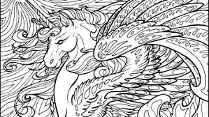 Realistic Unicorn Coloring Pages Free
