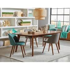 Mid Century Modern Upholstered Dining Chairs Set Excellent ...