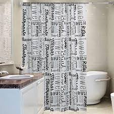 yingm badezimmer duschvorhang englisch brief stil muster