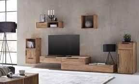 wohnwand auckland schrankwand aus echtholz akazie tv bank