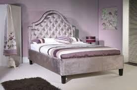 Mauve Bedroom by Limelight Charon 4ft6 Double Mauve Velvet Fabric Bed Frame By