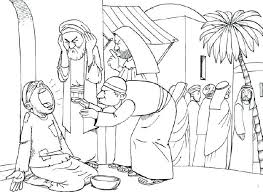 Full Image For Jesus Heals Ten Lepers Coloring Page Color Sheet Blind