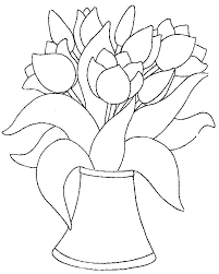 Tulips Coloring Page 27 Wallpaper