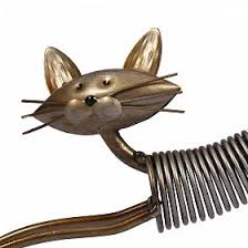 Buy TOOARTS Metal Sculpture Iron Art Cat Spring Made Handicraft Crafting Decoration Home Furnishing Ornaments
