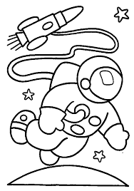 Astronaut Coloring Page Astronauts Free Pages