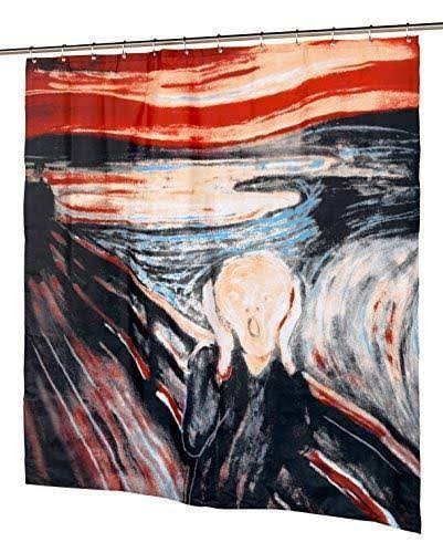 "Carnation Home Fashions Fabric Shower Curtain - The Scream, 70"" x 72"""