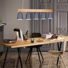 pendelleuchte hängeleuchte esstisch 5 pendelle holz und metall hängeleuchte hängele retro e27 leuchtmittel für esszimmer grau