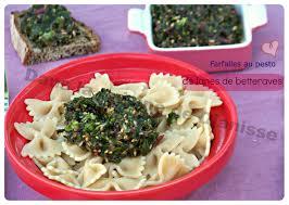 cuisiner des betteraves farfalles au pesto de fanes de betteraves cuisine végétalienne