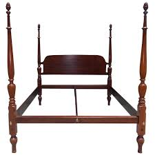 American Mahogany King Size Four Poster Bed Circa 1810 For Sale