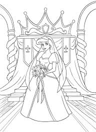 Exciting Princess Mermaid Coloring Pages Walt Disney Ariel
