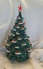 Vintage Atlantic Mold Ceramic Christmas Tree by Ceramic Christmas Tree Lights Vintage New Ebay