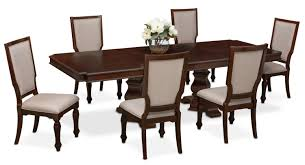 Value City Furniture Kitchen Table Chairs by Vienna Dining Table And 6 Upholstered Side Chairs Merlot Value