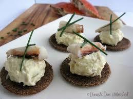 crab canapes crab dip canapés with quinoa tostadas domestic unleashed