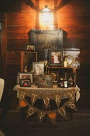 Rustic Barn Wedding Story Table Decor Ideas